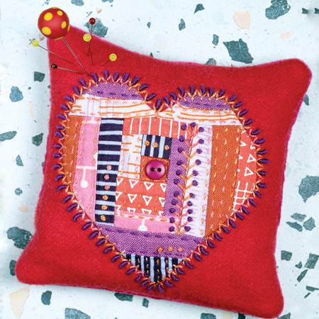 Heartthrob Pincushion Kit - Sue Spargo
