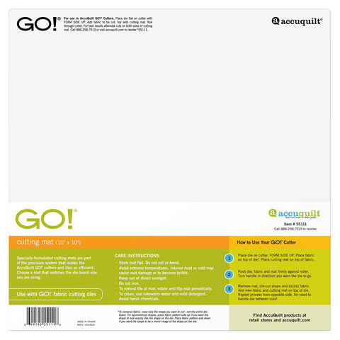 "Go! 10"" x 10"" Cutting Mat"