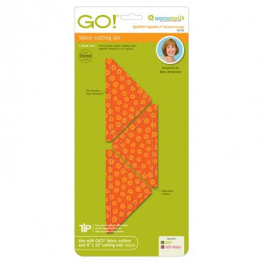 "Go! 4"" Quarter Square Triangle Die"