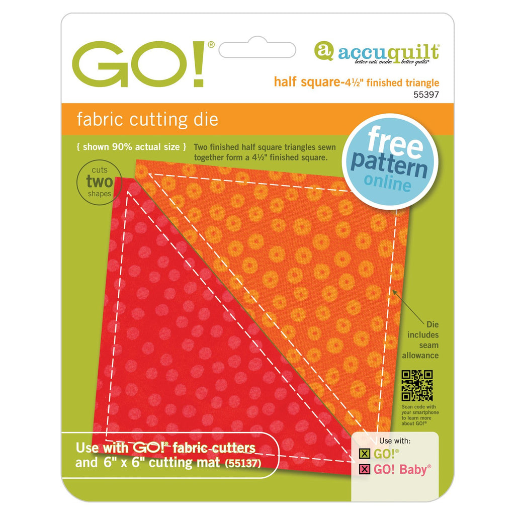 "Go! Half Square 4 1/2"" Finished Triangle Die"