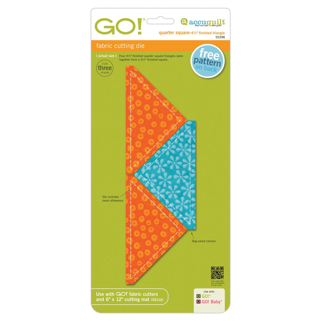 "Go! Quarter Square Triangle 4 1/2"" Die"