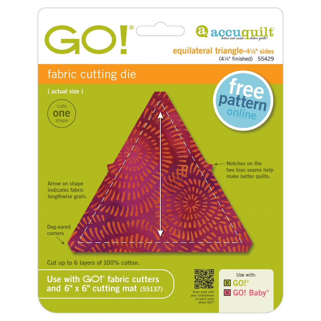 "Go! Equilateral Triangle 4 1/2"" sides Die"