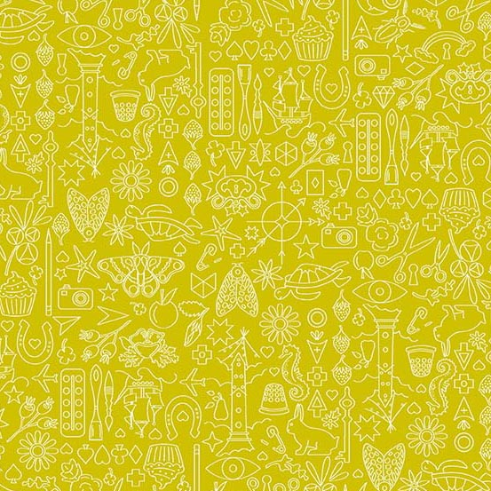 Sun Print 2019 --  Chartreuse Collection -- Alison Glass