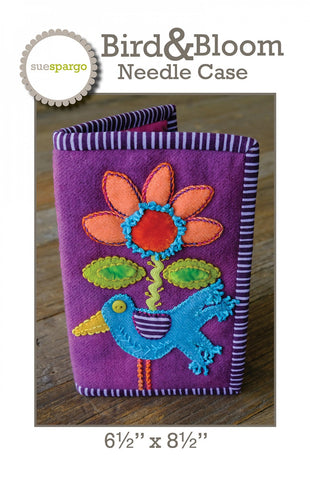 Bird and Bloom Needle Case Pattern - Wool Felt Applique - Sue Spargo
