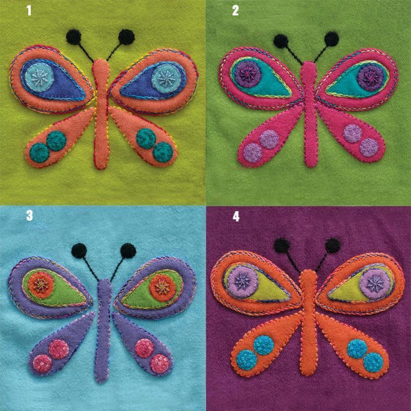 Sue Spargo Pre Cut Wool Applique Pack - Butterfly Colourway 2