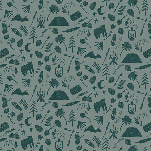 Campsite Fabric - Camping Stories