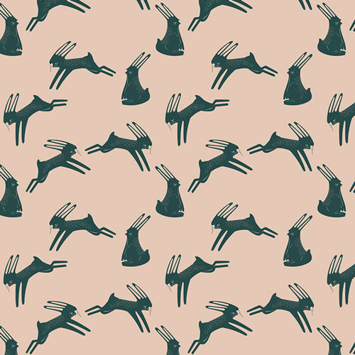 Campsite Fabric - Hoping Hare
