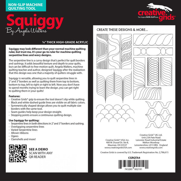 Squiggy Non-Slip Machine Quilting Tool