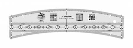 Creative Grids Wave Quilt Ruler 12in