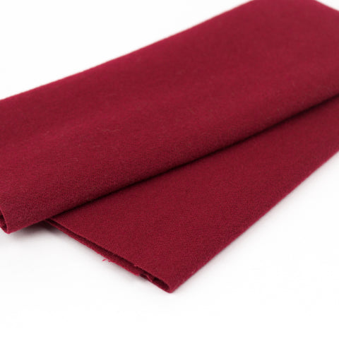 Sue Spargo Wool Fabric - Dark Cerise - Fat 1/8th