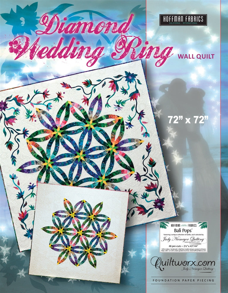 Wedding Ring Quilt Pattern.Diamond Wedding Ring Quilt Pattern