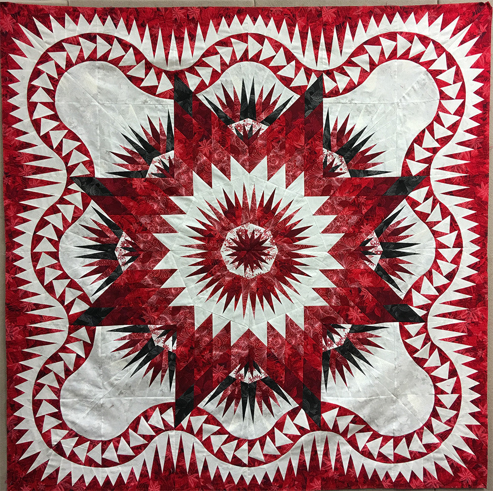 Dragon Star Quilt Kit - Red