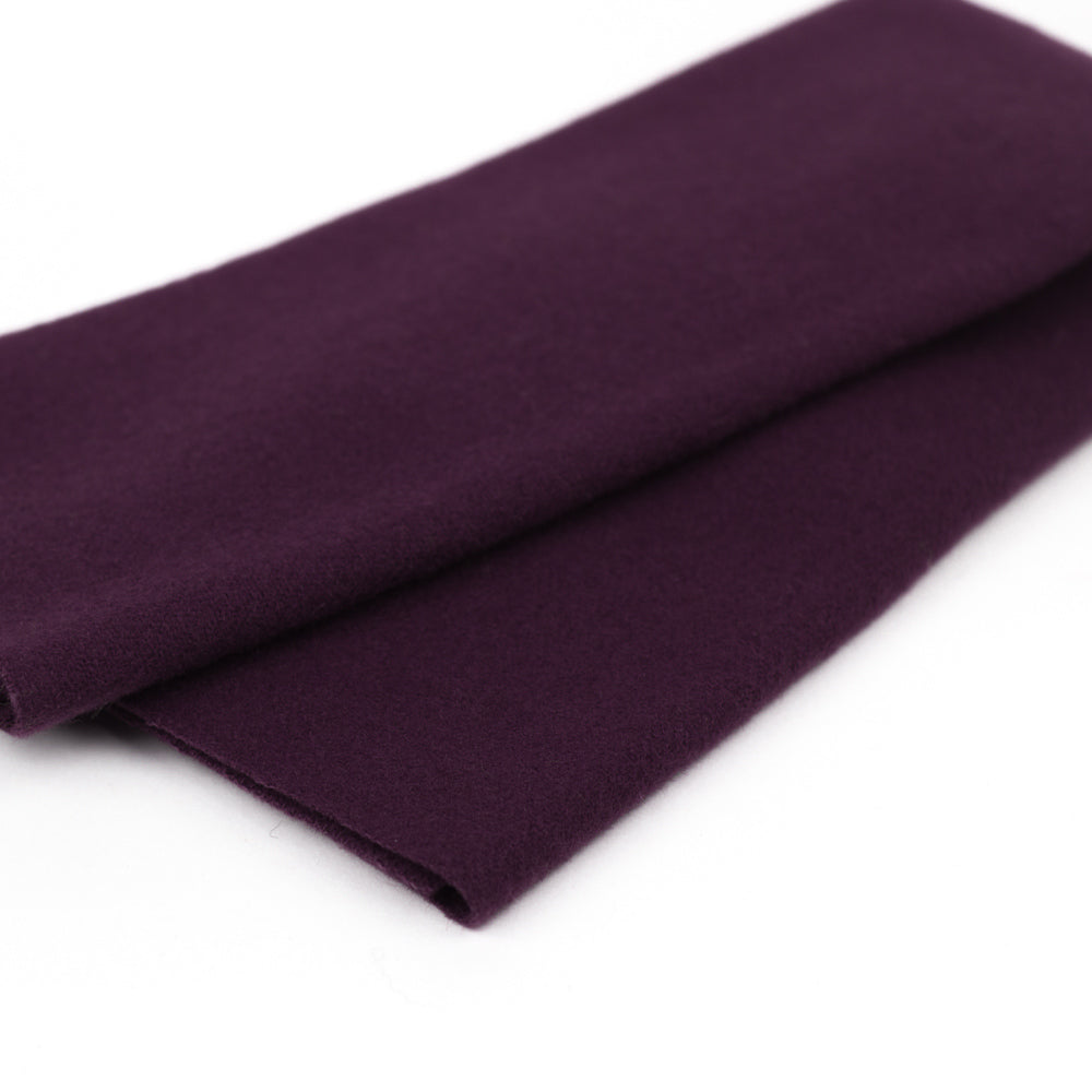 Sue Spargo Wool Fabric - Eggplant - Fat 1/8th