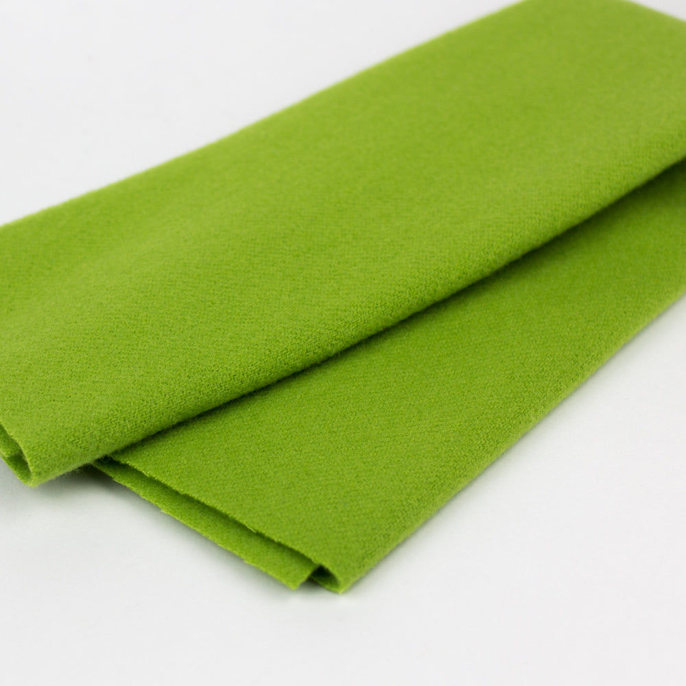Sue Spargo Wool Fabric - Electric Lime - Fat 1/8th