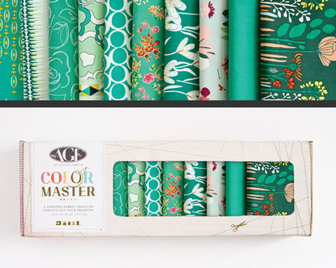 AGF Colour Masters - Emerald Stone Fat Quarters