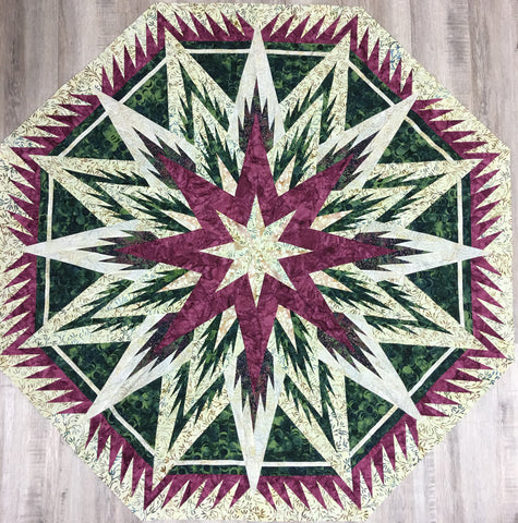 Feathered Snowflake Quilt Kit