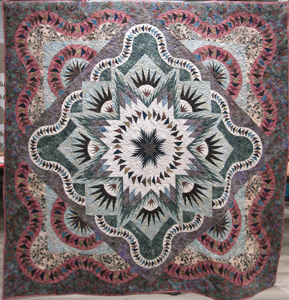 Glacier Star Queen Quilt Kit