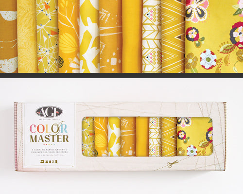 AGF Colour Masters - Gold Leaf Fat Quarters