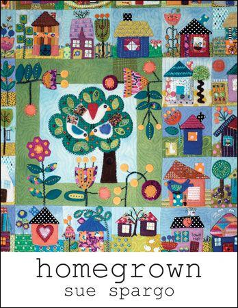 Homegrown Book - Wool Felt Applique - Sue Spargo