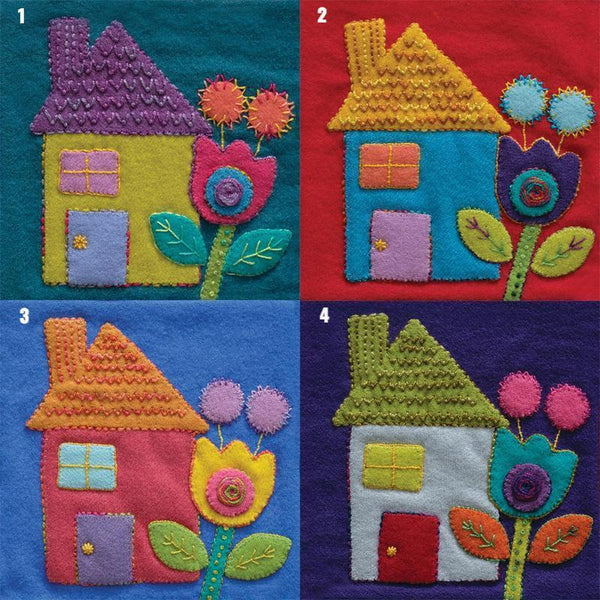 Sue Spargo Pre Cut Wool Applique Pack - House Colourway 4