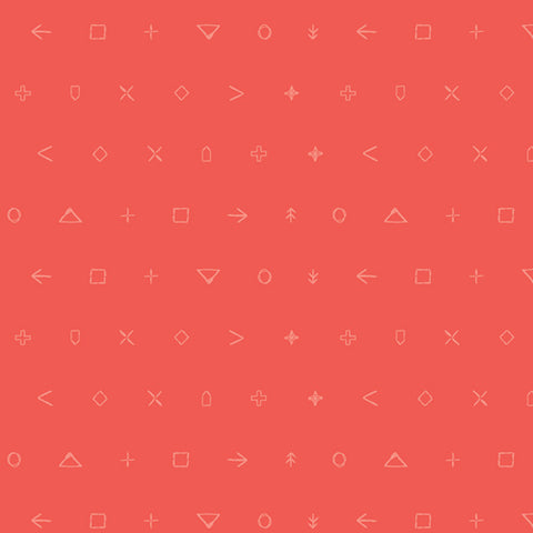 Coral Emblem Icon Elements - Art Gallery Fabrics