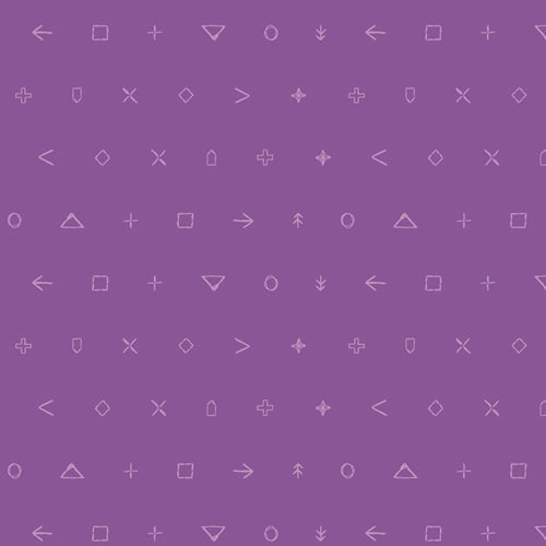 Titan Violet Icon Elements - Art Gallery Fabrics
