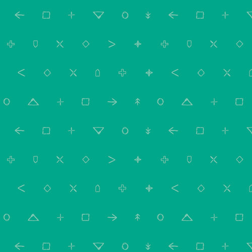 Jade Arrow Icon Elements - Art Gallery Fabrics