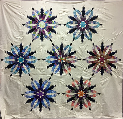 Judy Niemeyer Bali Wedding Star Kit: Diamond Wedding Star Quilt Kit