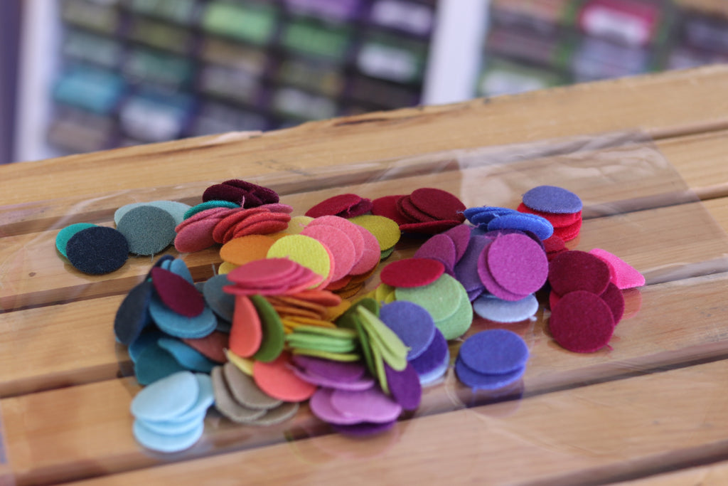 192 One Inch Wool Felt Circles