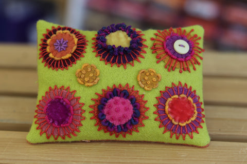 Circle Play Pincushion Kit - Wool Felt Embroidery - Sue Spargo - PreOrder, Arrives July 2020