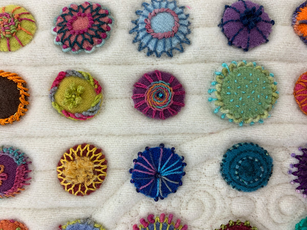 "Ten 1"" Wool Felt Circles"