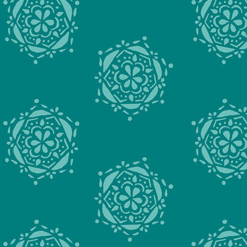 Lavish Fabric - Bejeweled Seal Teal