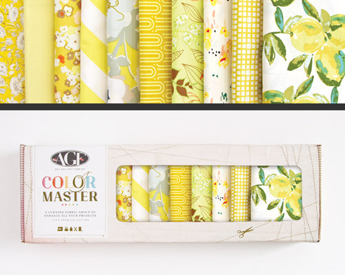 AGF Colour Masters - Lemon Green Fat Quarters