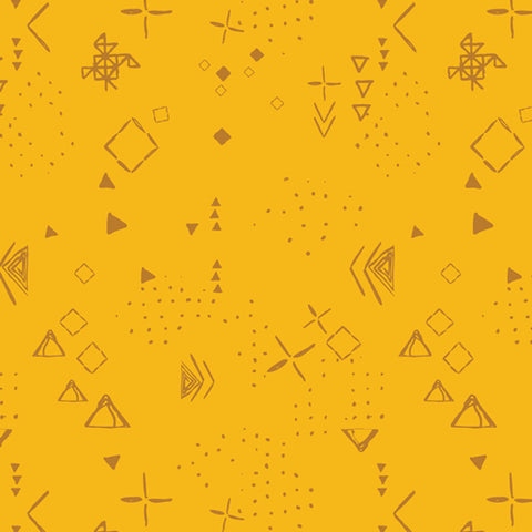 Thoughts Gold - Matchmade Fabric Collection - Pat Bravo