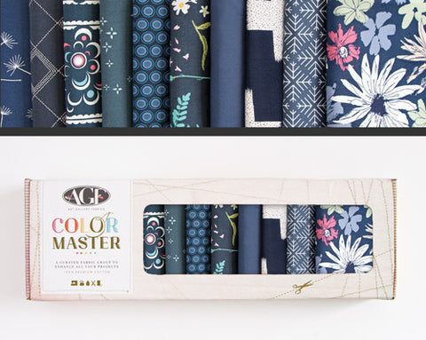 AGF Colour Masters - Midnight Ocean Fat Quarters