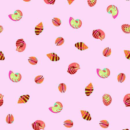 Tula Pink's Zuma Glow Fish Sea Shells Fabric