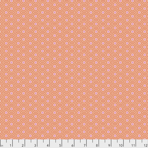 Tula Pink's True Colors Fabric - Hexy Peach Blossom