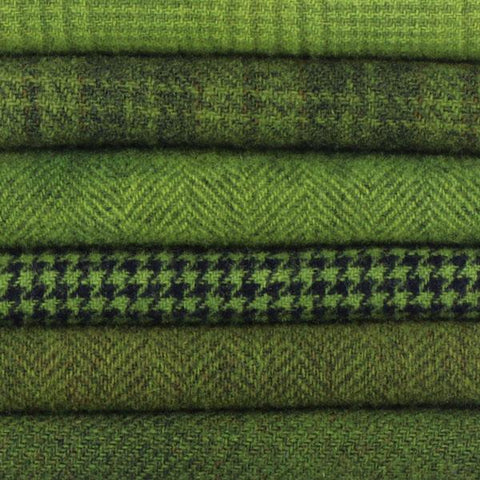 Sue Spargo Textural Wool Bundle -- Peridot