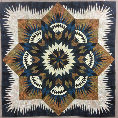 Prairie Star Quilt Kit - Blue