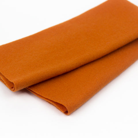 Sue Spargo Wool Fabric - Pumpkin - Fat 1/8th