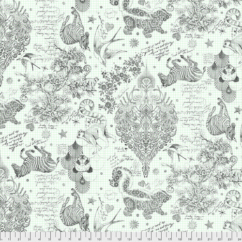 Tula Pink's Linework Fabric - Backing Fabric in Sketchyer Paper - PreOrder, Arrives October 2020