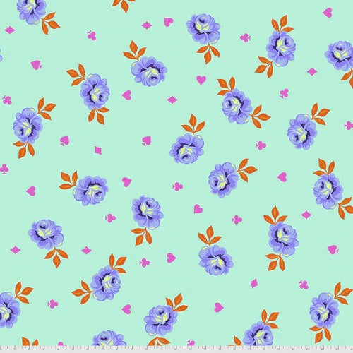Tula Pink's Curiouser and Curiouser Fabric - Backing Fabric in Big Buds Daydream - PreOrder, Arrives April/May 2021