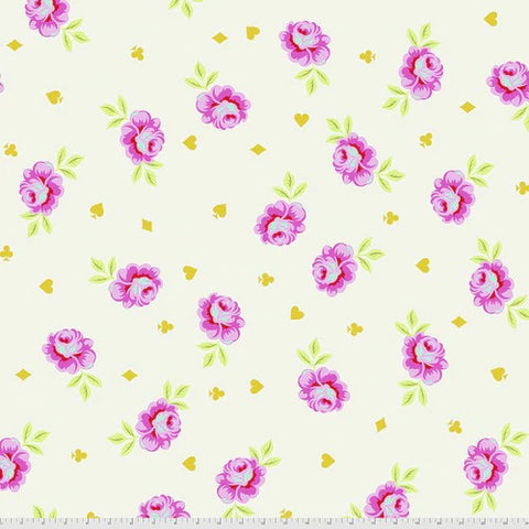 Tula Pink's Curiouser and Curiouser Fabric - Backing Fabric in Big Buds Wonder - PreOrder, Arrives April/May 2021