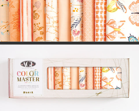 AGF Colour Masters - Quite Peachy Fat Quarters