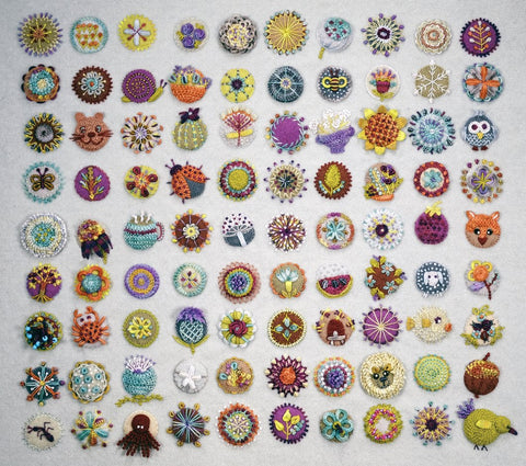 Toned Down Circle Sampler Kit - Sue Spargo - PreOrder, Expected Late October