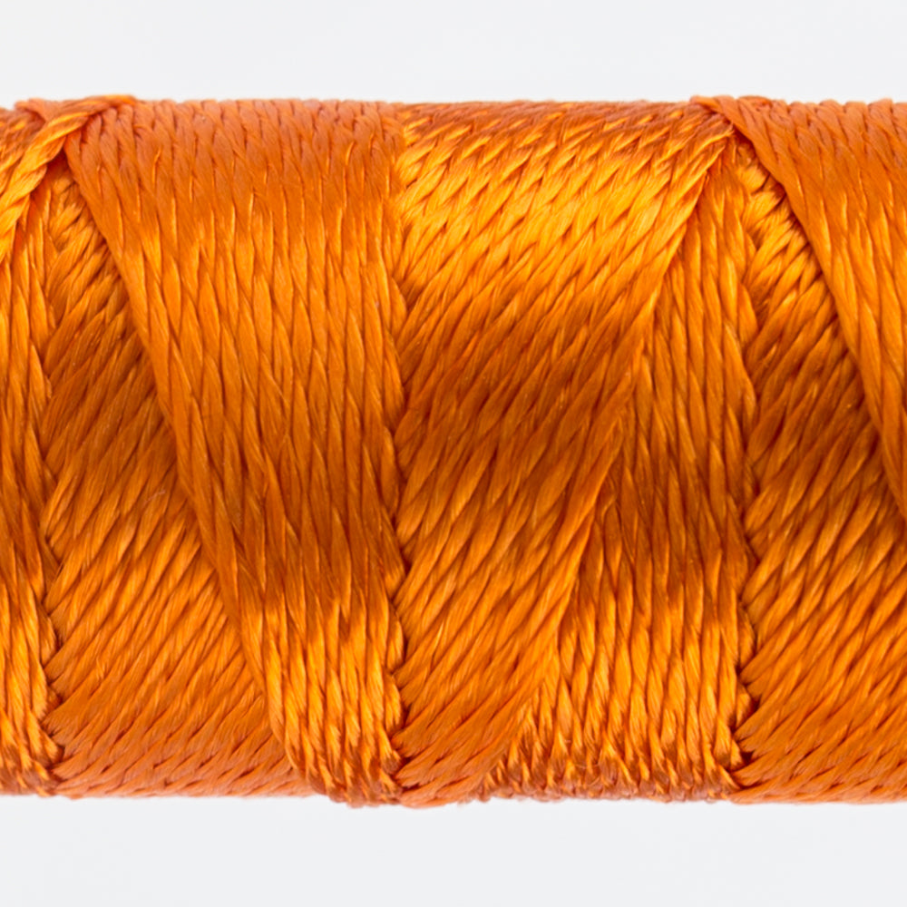 Sue Spargo's Solid Razzle Thread - 100% Rayon Thread - RZ1140 -  Vermillion Orange