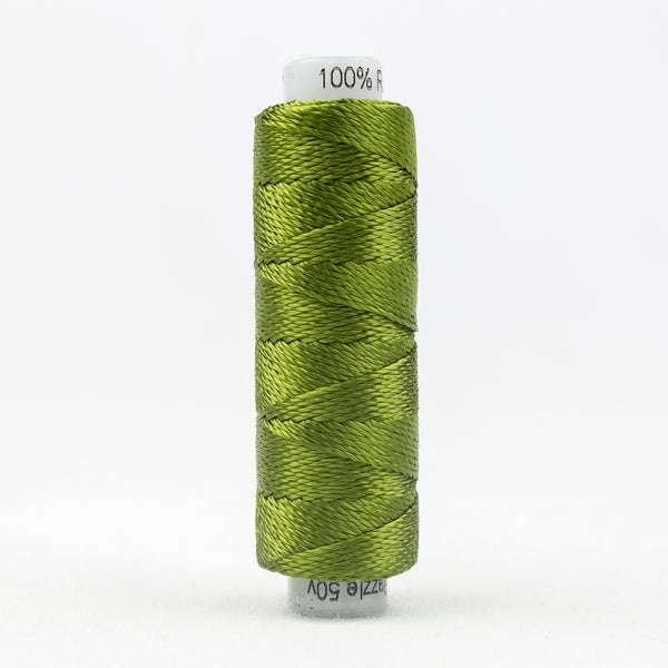 Sue Spargo's Solid Razzle Thread - 100% Rayon Thread - RZ4117 - Calla Green