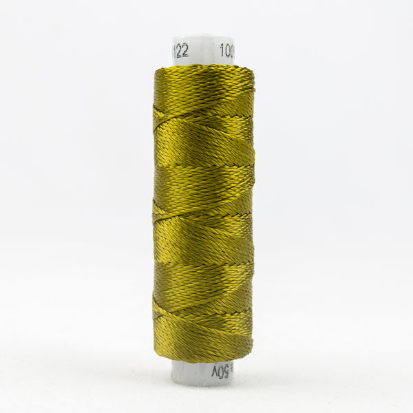 Sue Spargo's Solid Razzle Thread - 100% Rayon Thread - RZ4122 - Ecru Olive