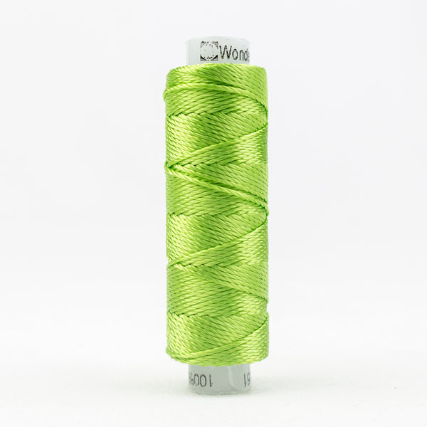 Sue Spargo's Solid Razzle Thread - 100% Rayon Thread - RZ4151 - Parrot Green