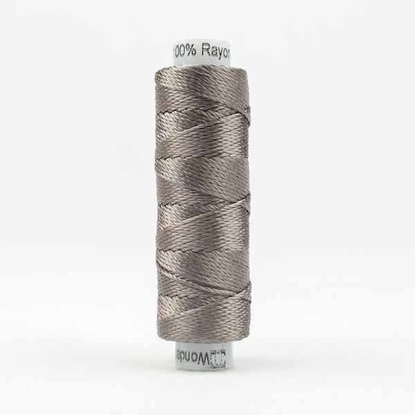 Sue Spargo's Solid Razzle Thread - 100% Rayon Thread - RZ6110- Shadow Gray
